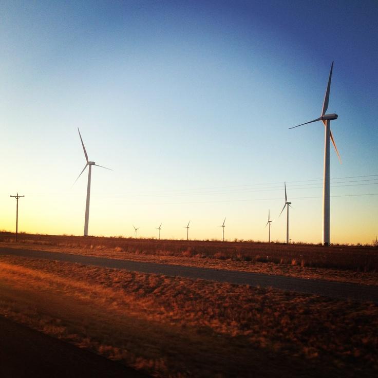 Wind turbines in Sweetwater Texas
