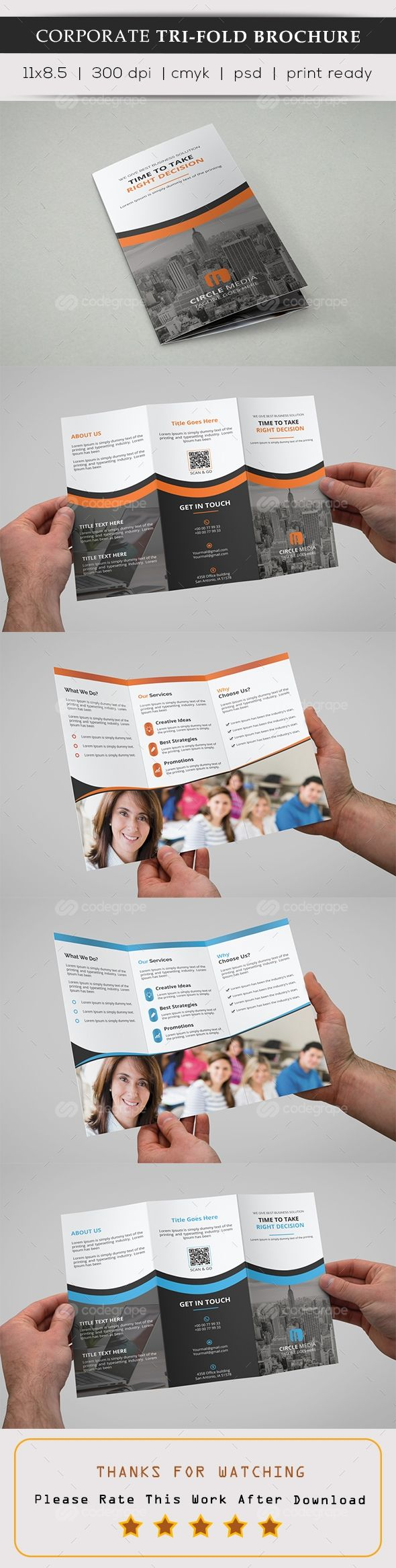 Tri-Fold Brochure on @codegrape. More Info: https://www.codegrape.com/item/tri-fold-brochure/11640