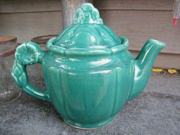 McCoy Green Art Pottery Tea Pot