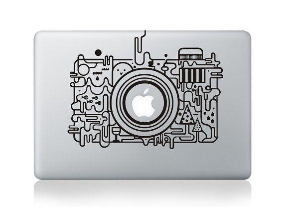 Camera Sticker - Mac Decal Macbook Stickers Macbook Decals Apple Sticker for Macbook Pro/ Macbook Air/ iPad/ iPad2/ New iPad/ iPad 4 on Etsy, $6.99