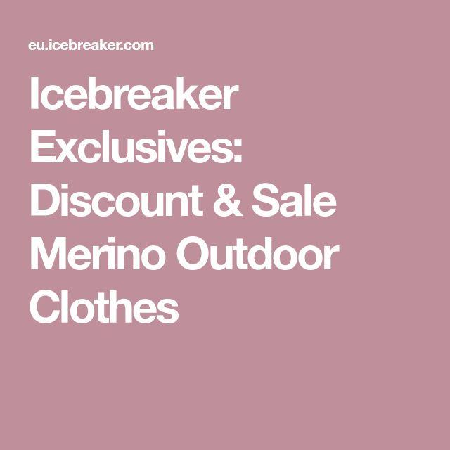 Icebreaker Exclusives: Discount & Sale Merino Outdoor Clothes