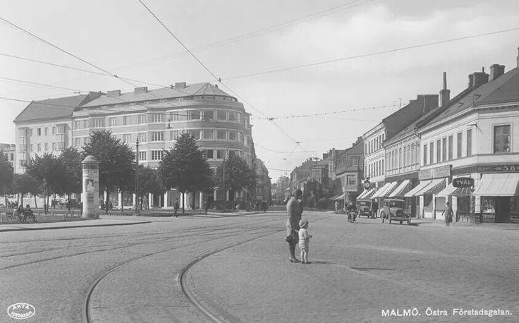 1931. Värnhemstorget i Malmö.