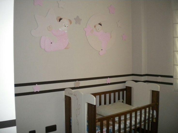 Habitaciones de beb s decoradas con siluetas de madera - Habitaciones infantiles decoradas ...