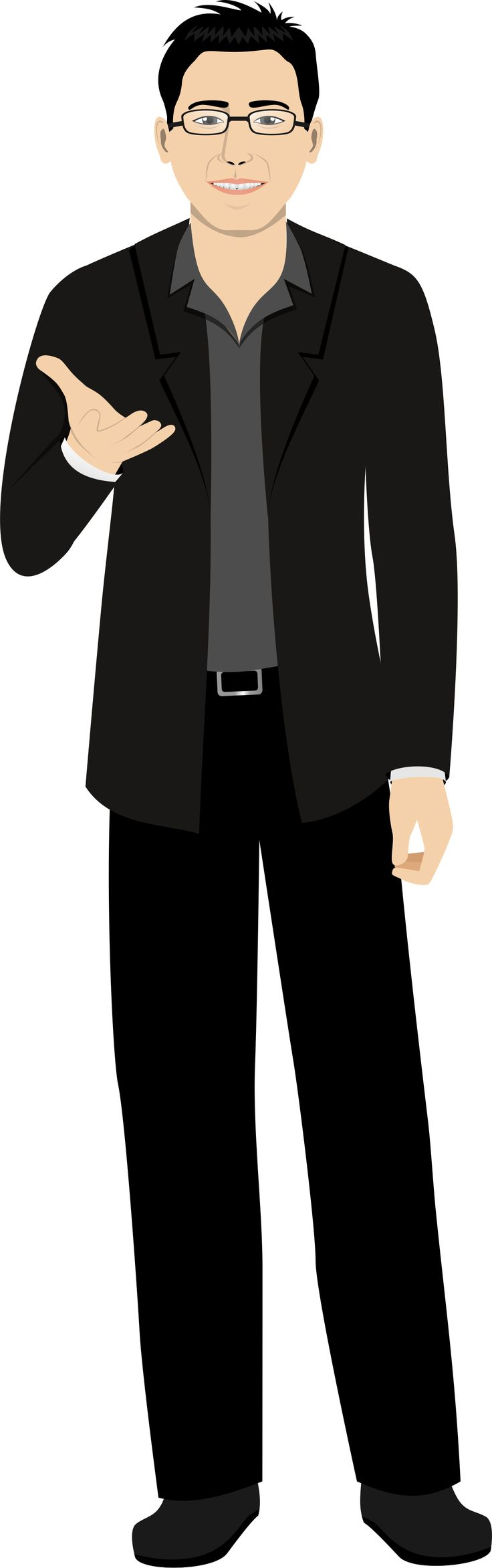Customized illustration avatar for eLearning with Adobe Captivate, Techsmith Camtasia, and Articulate Storyline.