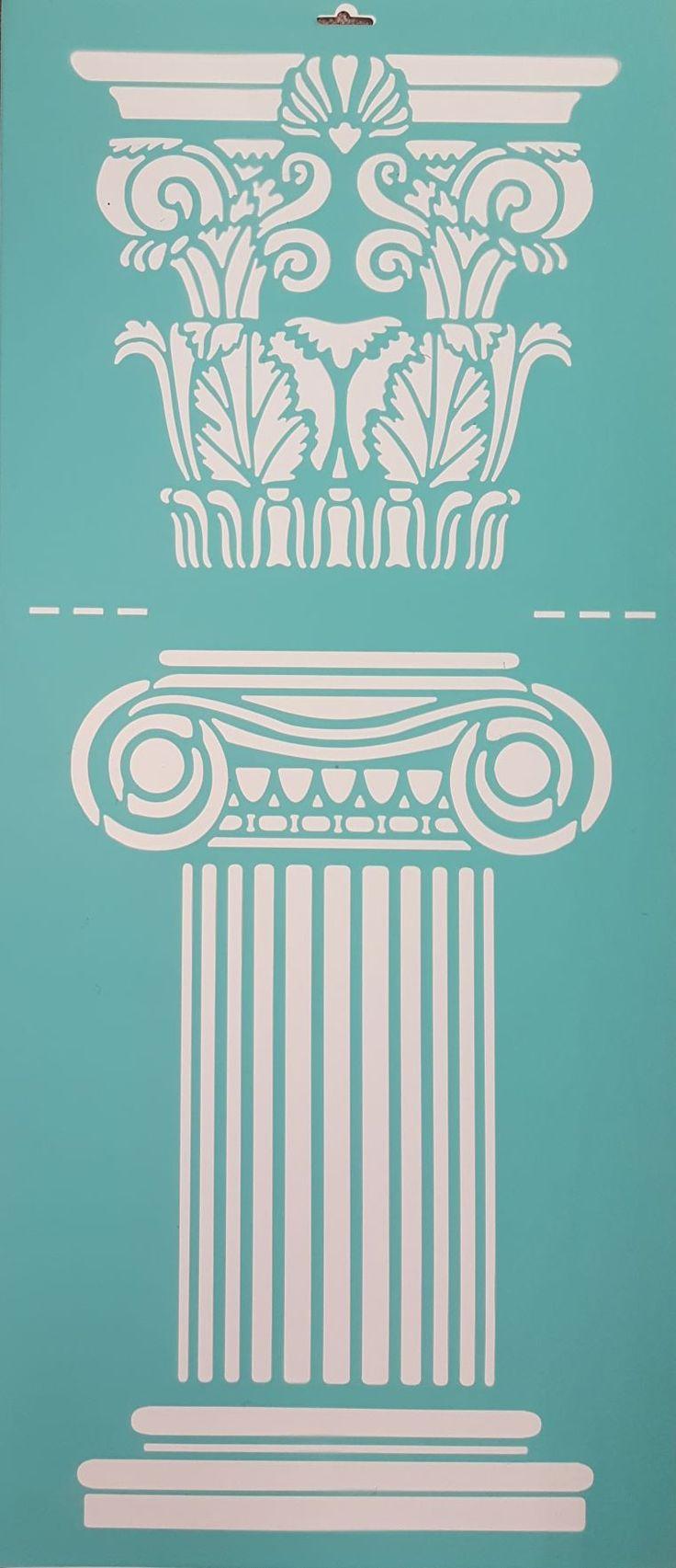 griekse pilaren muursjabloon