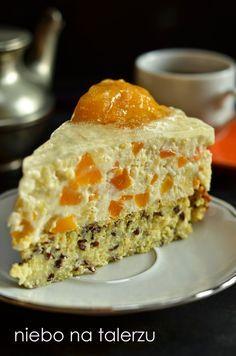 niebo na talerzu: Ciasto jaglane z kremem. Tort jaglany. Węgierski Tort Brzoskwiniowy