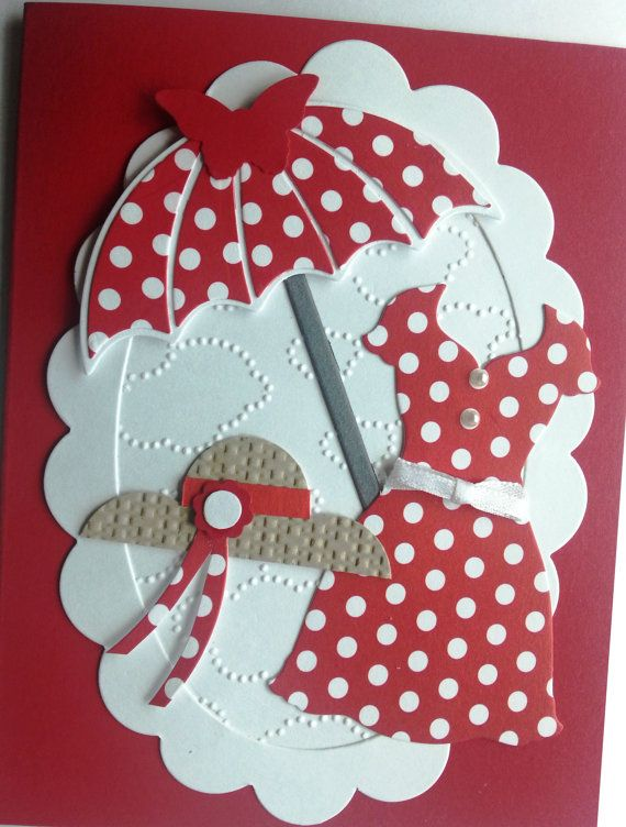 The RED DRESS is a homemade happy feminine greeting card