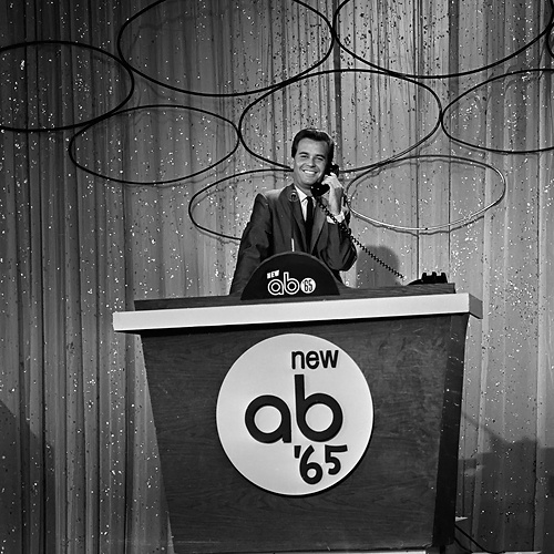 Dick Clark on American Bandstand in 1965.  Mom says I learned to dance watching AB as a toddler.