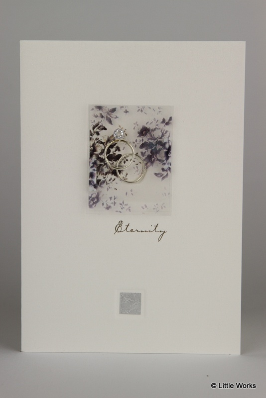 Eternity Ring card which can be used as an Engagement card, a Wedding card or even an Anniversary card