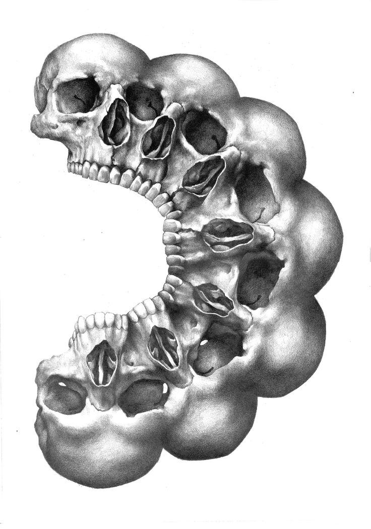 eatsleepdraw:  Julian Farrar Finished this skull drawing. Really had fun with this one, kinda sad its done…… A2, pencil on paper      (via T...
