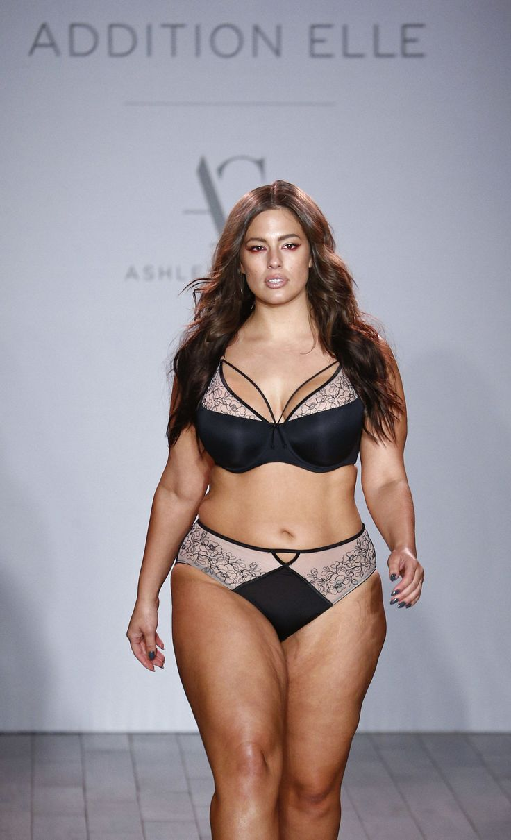 Ashley Graham Models Her Lingerie Collection At New York Fashion Week