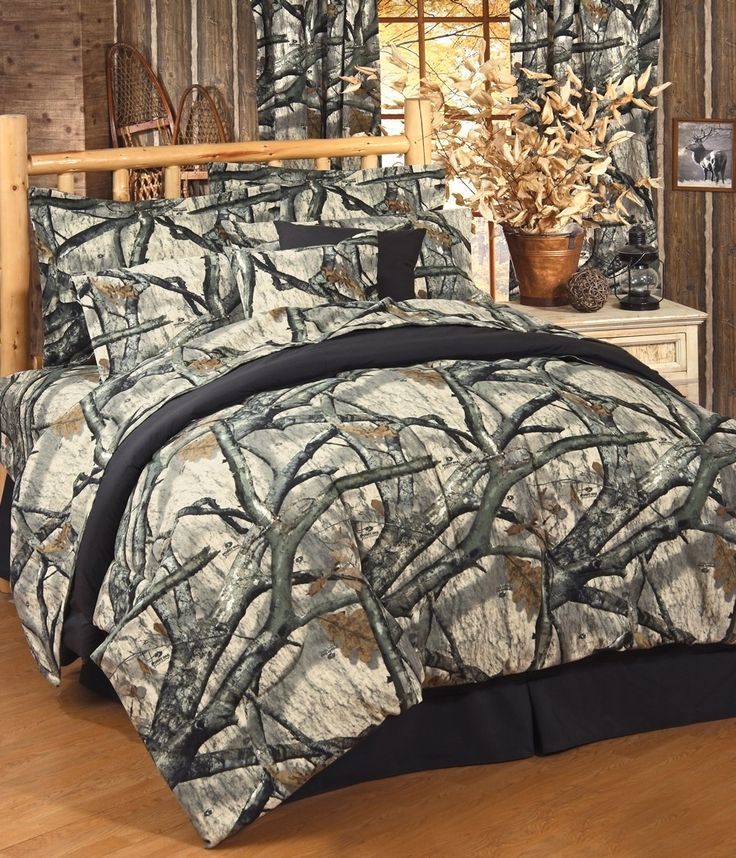 mossy oak camo treestand comforter bedding set and matching sheets - Camouflage Bedding