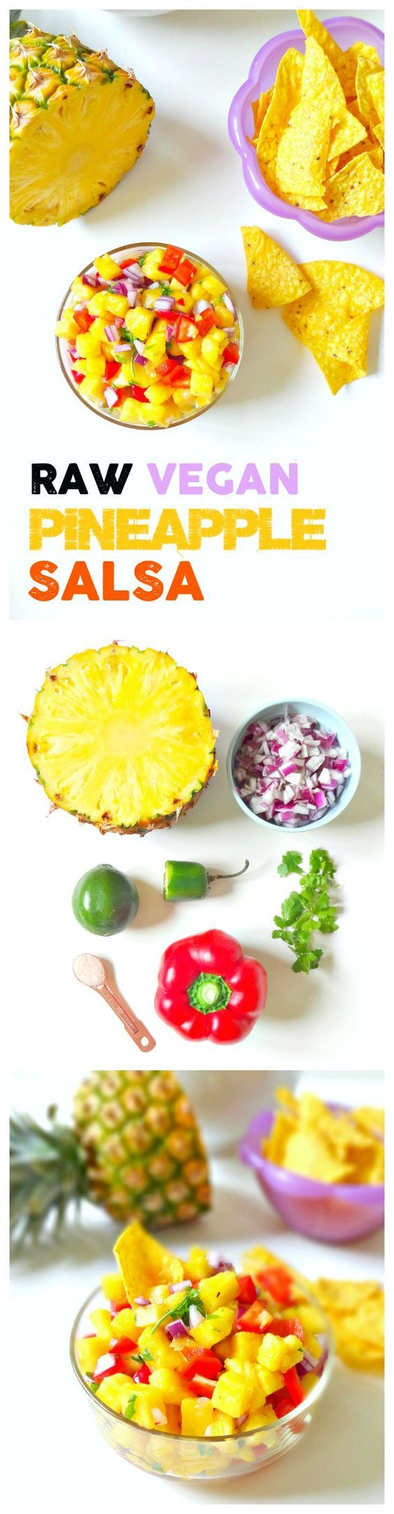 Raw Vegan Pineapple Salsa. FRESH crunchy juicy spicy and sweet. This healthy…