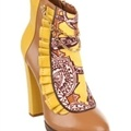 Beau Coops for Karen Walker - Lincoln - Heeled Boots (Sorbet)  Available at www.shoesonline.com.au