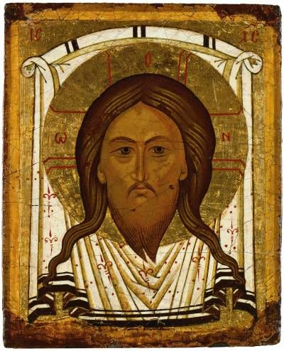 Mandylion (Image of Edessa)Double-Faced Icon-Tablet  School or cultural centre:Novgorod  Late 15th—early 16th centuries