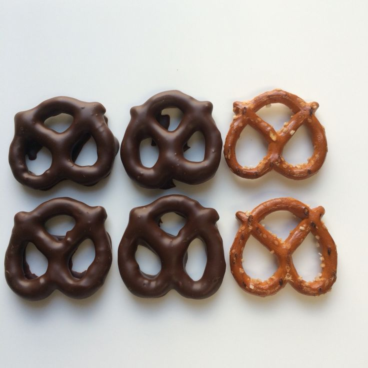 Dark #Chocolate coated #pretzels