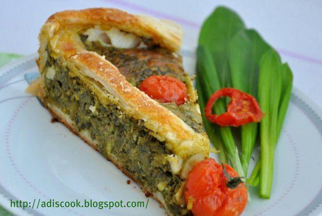 Retete Culinare - Quiche cu spanac si leurda