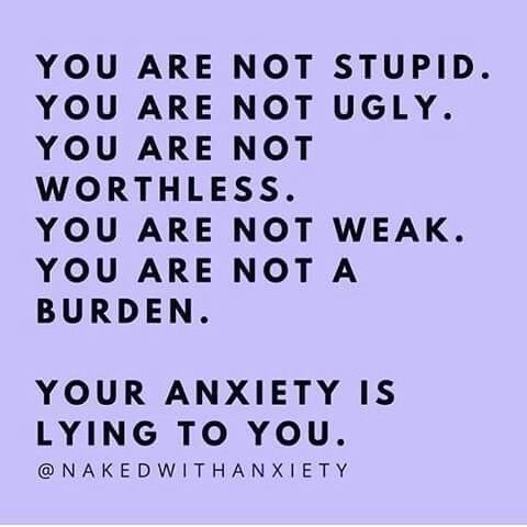 You are not... #Anxietydisordersigns