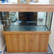 Classic cabinet design, 4ft fish tank, Walnut Supreme colour. Prime Aquariums, London UK