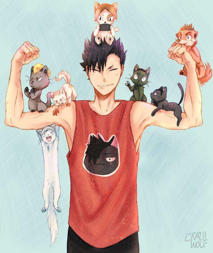 Have no fear. Catman's here. ; Haikyuu ; Kuuro Tetsurō