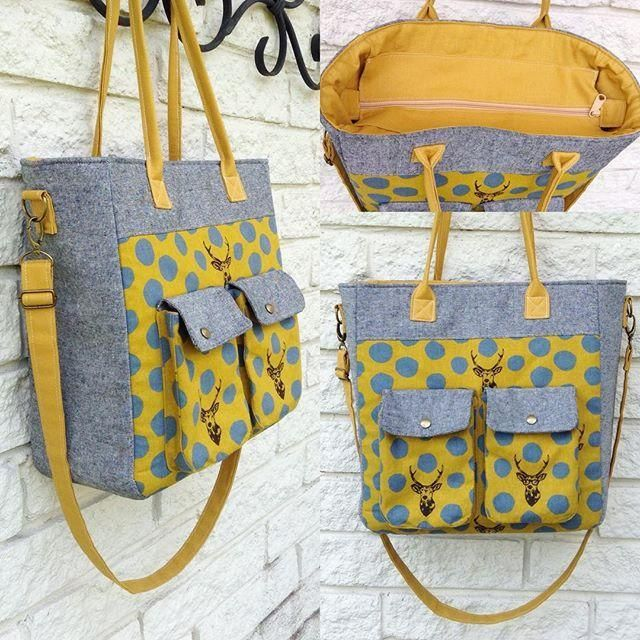 This bag is perfect to carry to classes or for shopping. Purchase the (AD) pattern here.