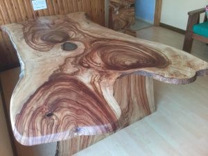 Camphor Dinind Table $1200.00 made to order. Illusive Wood Designs. Delivering entire east coast