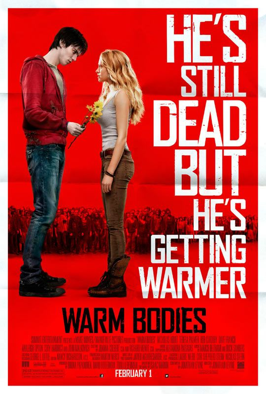 This looks absolutely hilarious! Warm Bodies - Movie Trailers Starring Nicholas Hoult and Teresa Palmer with John Malkovich