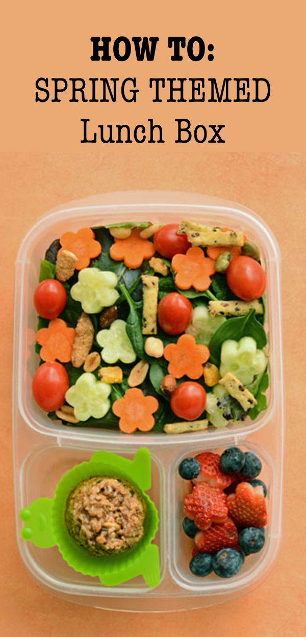 How to create the perfect spring themed lunch box!