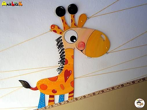 anjelicek / Dekorácia na zavesenie - Žirafa