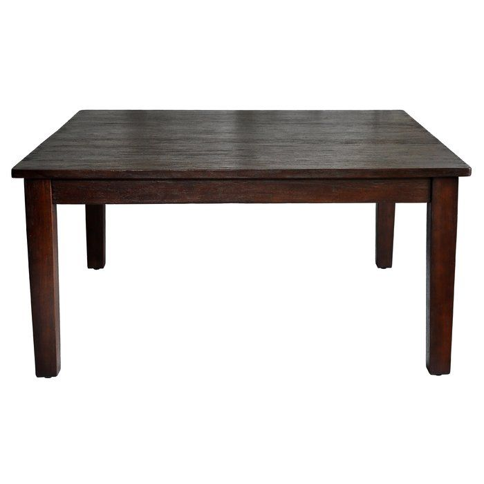 The straight lines of this solid mahogany dining table give a contemporary look to your dining space. With ample seating for up to 8 people, this table has solid wood legs and a solid mahogany hand-planed top.