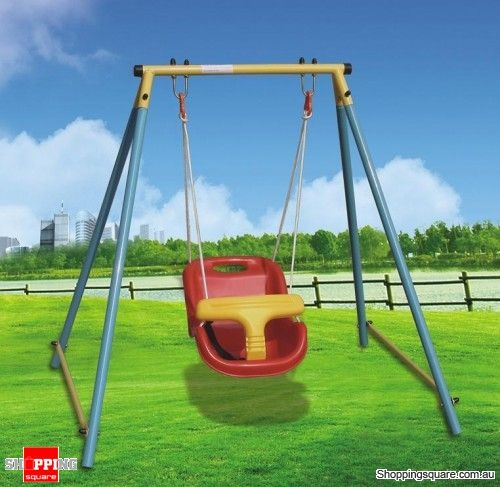 Indoor & Outdoor Baby Toddler Swing Set for Age 6 Months ...
