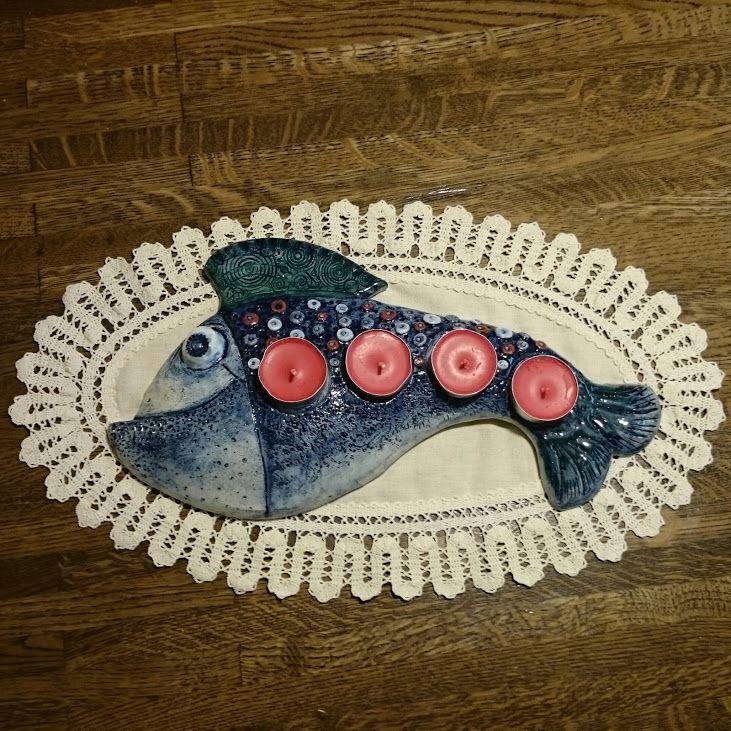 Adventní ryba - keramika Ceramics - fish,