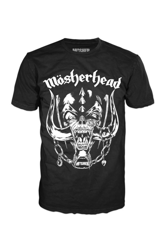Mosherhead t-shirt by Mosher Clothing, featuring Mosher Pete as Snaggletooth