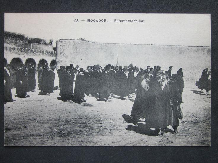 MOROCCO - MOGADOR, Enterrement Juif, Jewish Funeral