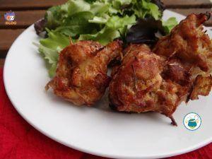 Cosce+di+pollo+ripiene+/+ricetta+con+foto+passo+passo