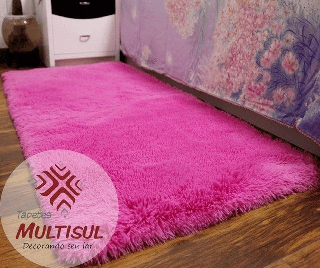 Trilho Peludo Rosa 2 00 X 0 60 Metros Tapete Fofo Tapete Pink Quarto Rosa E Branco