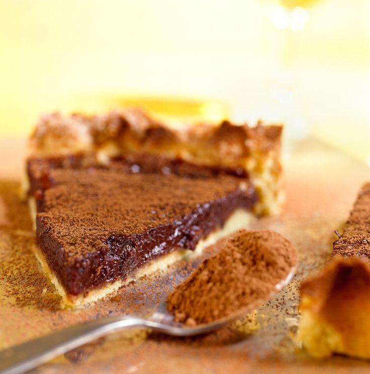 Tarta tierna de chocolate