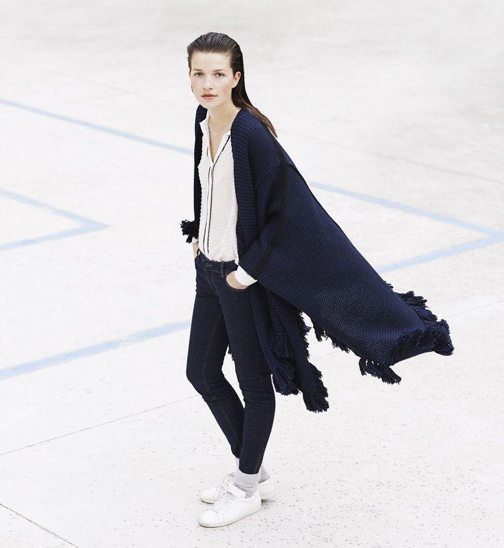 S'habiller en hiver : le plaid à porter + la veste en cuir
