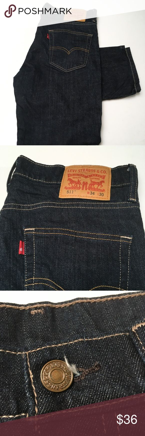 LEVIS 511 Denim Jeans 34x30 Classic styling. Durable goods.  Smoke and pet free storage. Happy to answer any questions or provide more images. Thanks for looking Levis Jeans Slim