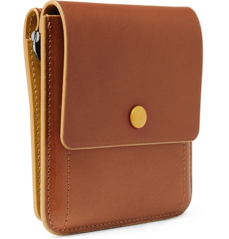 Bill Amberg Leather Billfold Wallet. $130