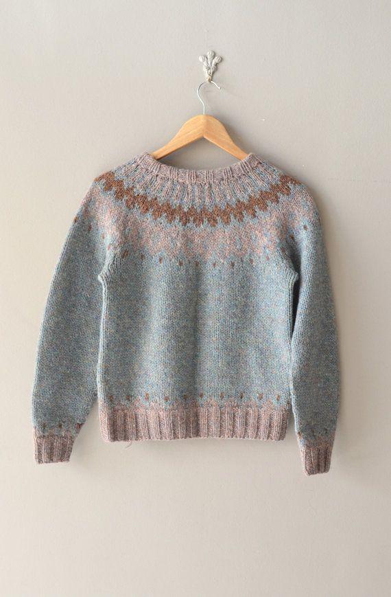 fair isle sweater | Selura wool ski sweater