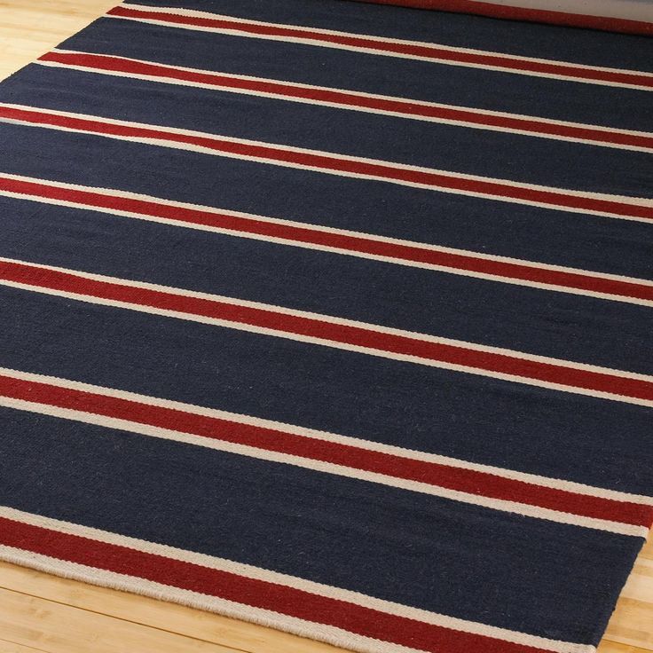 Rugby stripe area rug uniquely modern rugs for Living room 4x5