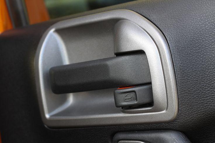 Door Latch Trim, Charcoal; 11-16 Jeep Wrangler JK