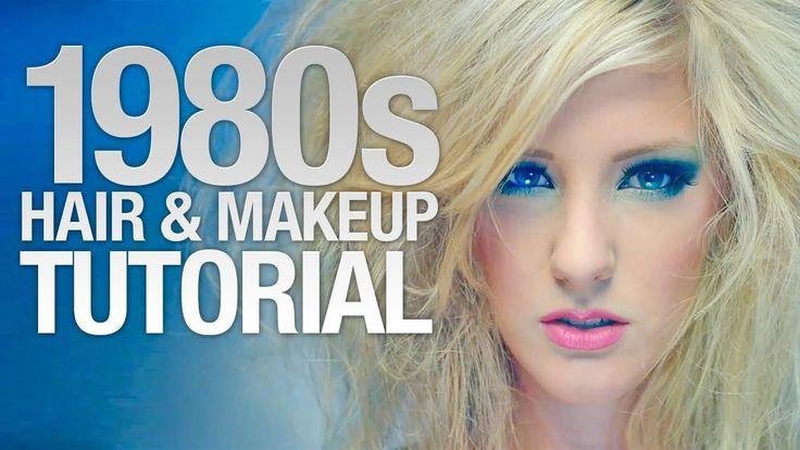1980's hair & makeup tutorial - for Halloween