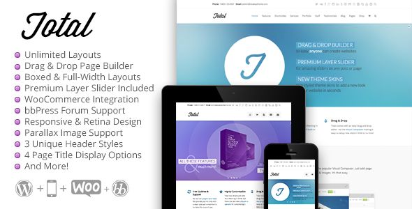 Total - Responsive Multi-Purpose WordPress Theme - Corporate