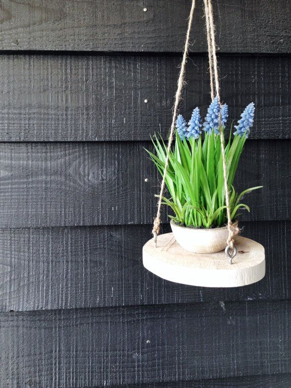 Plantenhanger boomschijf by Huisbaas on Etsy