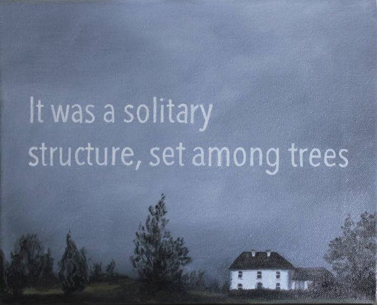 "Saatchi Art Artist Elena Duff; Painting, ""It was a solitary structure, set among trees"" #art"