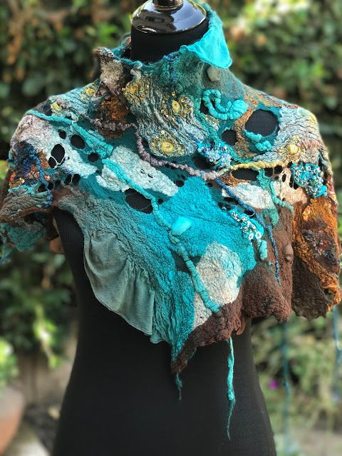 A blog about eco printed nuno felted reversible garments and accessories, mah jongg jewelry, Studio 907, nuno felting workshops, Beth Marx, So Cal