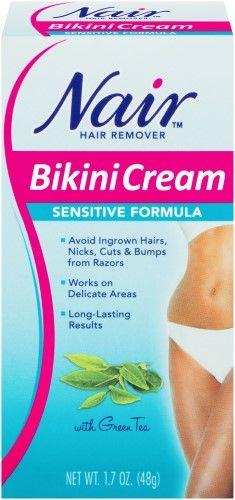 Nair Hair Remover Bikini Cream, Sensitive Formula, 1.7 Oz, Multi
