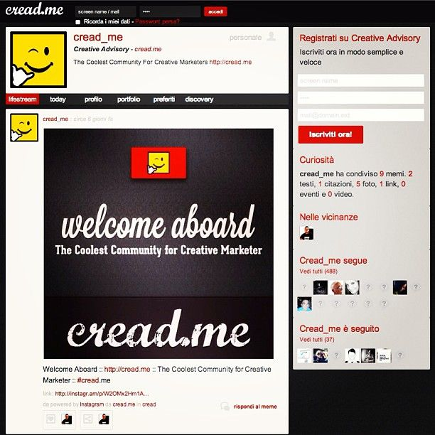 cread.me - lifestream community
